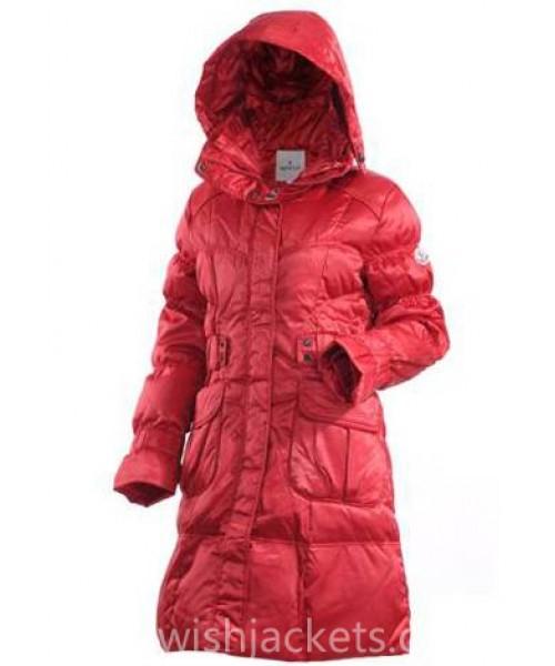 Moncler Women Down New Coat Red Bj130525