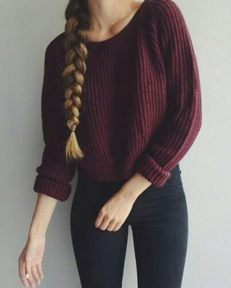 sweater burgundy burgundy sweater
