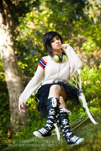 christina grimmie converse high top sneakers sneakers straps music