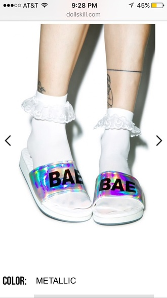 shoes grunge sandals trendy holographic cute
