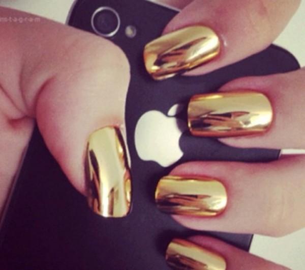 nail polish gold mirror nail polish