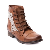 shoes,brown,white,combat boots