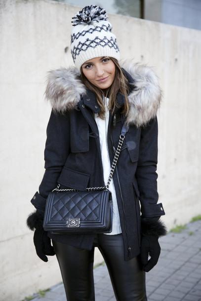 lovely pepa blogger coat pants shoes hat bag gloves