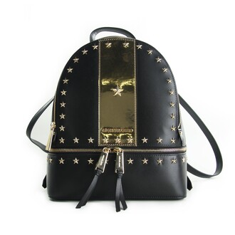 studded backpack studded backpack gold black stars bag