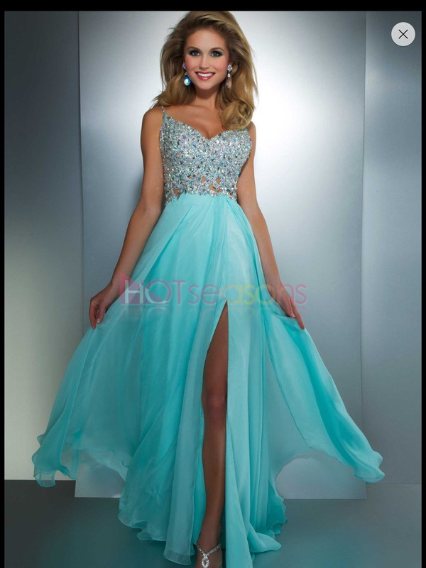 dress blue dress formal dress blue silver silver glitter beaded beaded dress straps slit slit dress prom dress teal dress