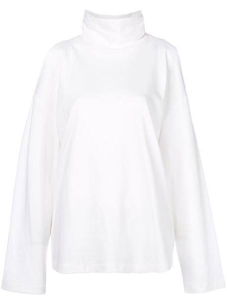 Sjyp jumper women white cotton sweater