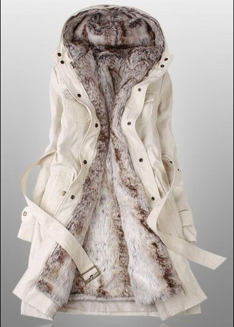 coat winter coat women's coats white coat furlined cute coat green coat belt long coat jacket