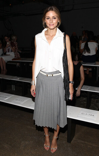 skirt top olivia palermo fashion week 2014