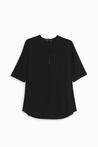 blouse women silk black top