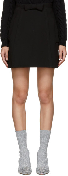 Miu Miu miniskirt bow black skirt