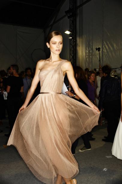 dress beige dress brandy cute dress maxi dress wonderful cute couture couture dress