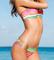 7 colour stripe bikini