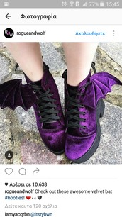 shoes,velvet bat booties