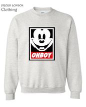 sweater,ohboy,sweatshirt,mickey club,disobey,obey,girl,boy london,guys,mickey mouse,crewneck,crewneck sweater,winter sweater