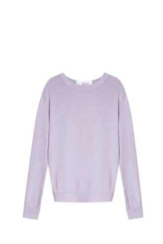 sweater back silk grey