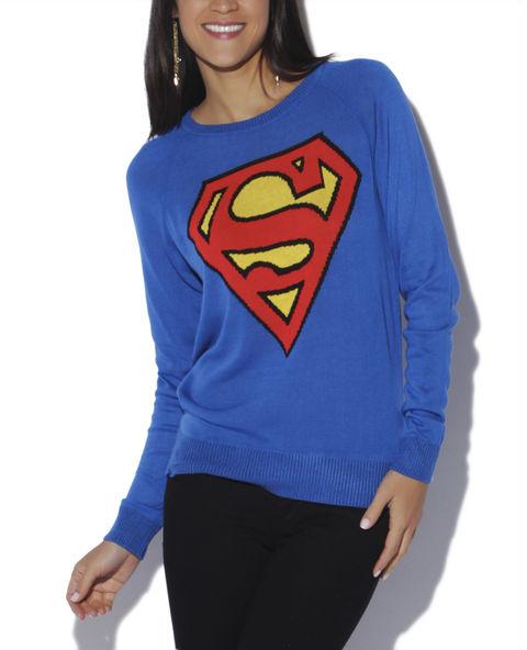 Superman Fine Gauge Sweater - WetSeal