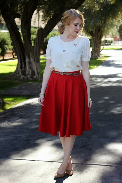 fashion flirtation blogger top skirt shoes belt jewels