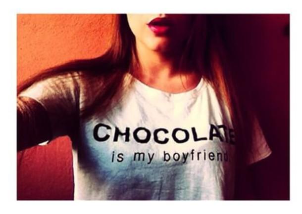 t-shirt chocolat chocolate chocolate boyfriend boyfriend t-shirt
