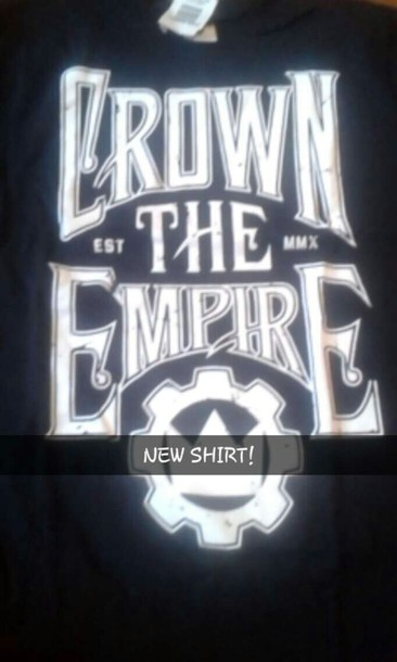 shirt band t-shirt crown the empire hottopic