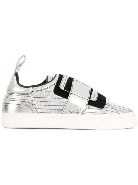 Paco Rabanne women sneakers leather cotton grey shoes