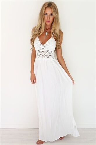 dress white dress white crochet dress crochet dress crochet summer dress