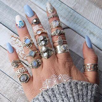 jewels cherry diva boho bohemian knuckle ring ring stack ring boho jewelry silver silver ring silver jewelry sterling silver rings