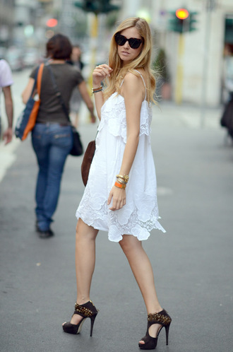 chiara the blonde salad white dress dress