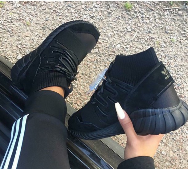 shoes black adidas shoes adidas adidas superstars adidas originals sneakers  high top sneakers black sneakers socks 4b2f1e2dd
