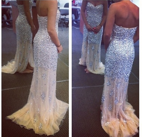 dress white dress long prom dress prom dress