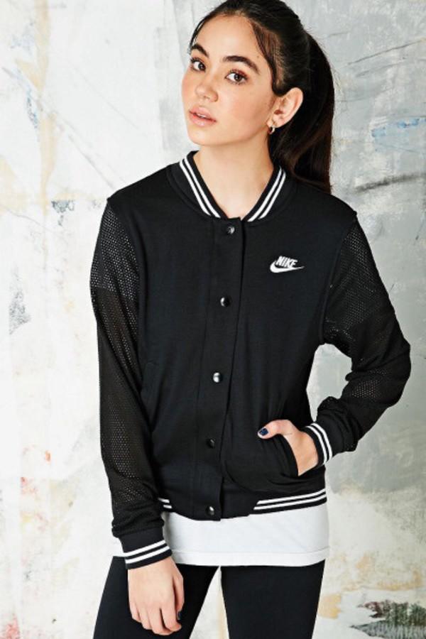 Jacket: nike, nike jacket, black jacket, wind jacket, college ...