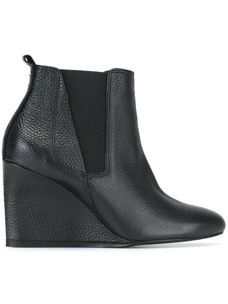 heel boots chelsea boots black shoes