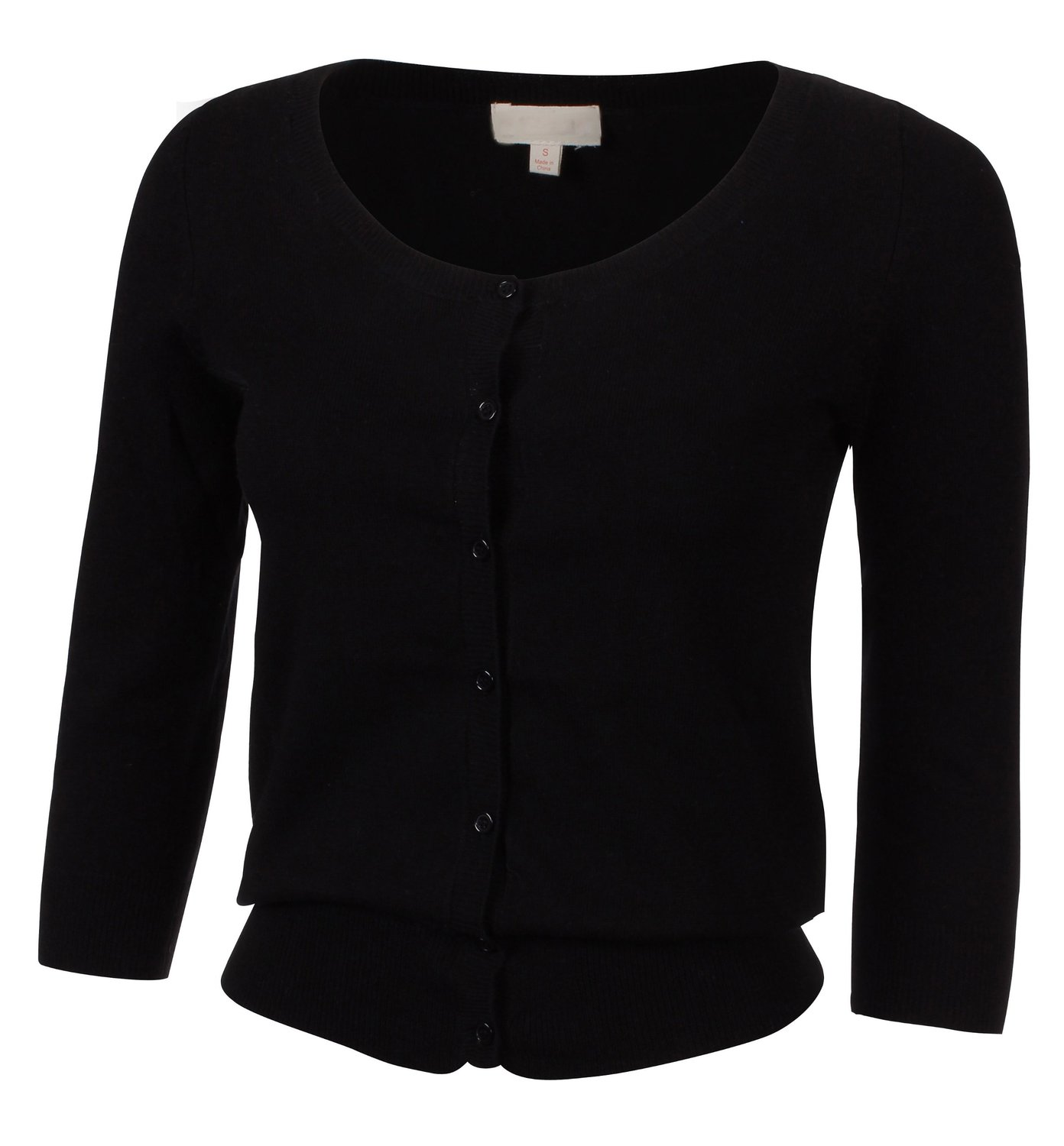 Made By Johnny Women's 3/4 Sleeve Classic Prep Cardigan at Amazon Women's Clothing store: