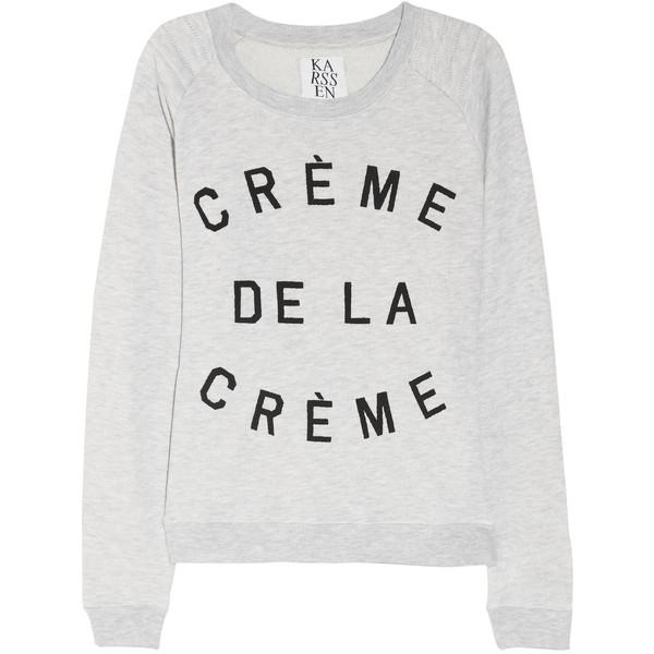 Zoe Karssen Crème de la Crème cotton-blend terry sweatshirt - Polyvore