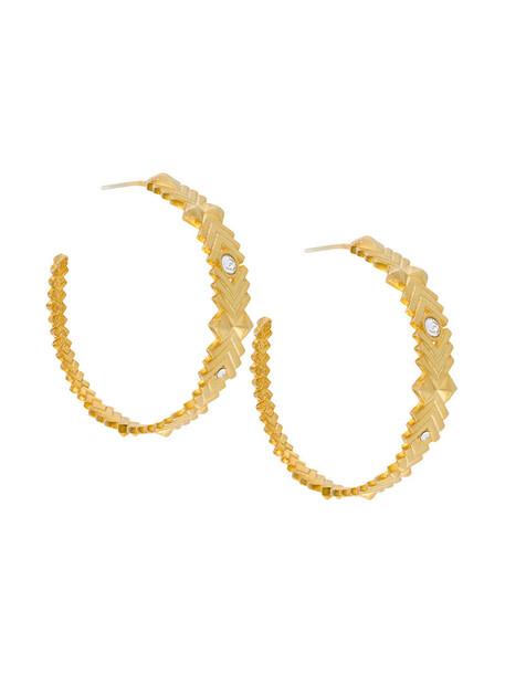 Charlotte Valkeniers women earrings hoop earrings gold silver grey metallic jewels