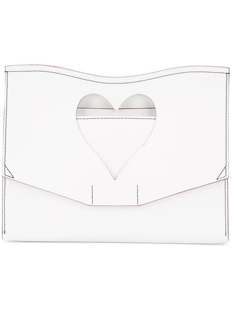 Proenza Schouler women clutch leather white bag