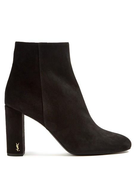 Saint Laurent suede ankle boots ankle boots suede black shoes