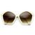 Womens Pentagon Designer Inspired Oversize Fashion Sunglasses 8908                           | zeroUV