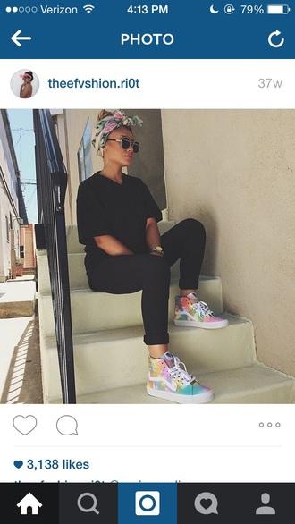 shoes vans sneakers style tie dye