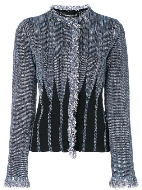 Emporio Armani jacket short women cotton blue