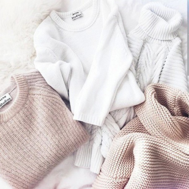 sweater winter sweater comfy tumblr white white sweater beige fall outfits fall sweater