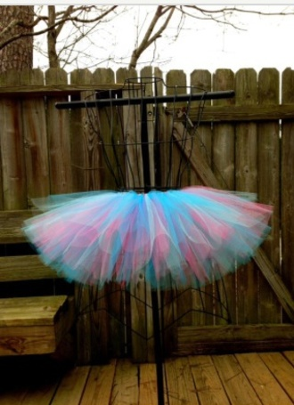 turquoise pink dress tulle skirt