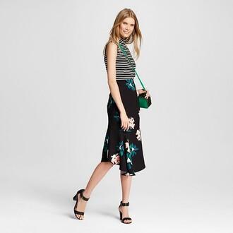 skirt floral skirt midi skirt