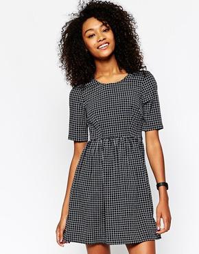 Vero moda grid print skater dress at asos