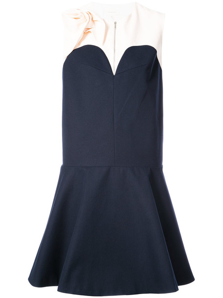 dress women cotton blue