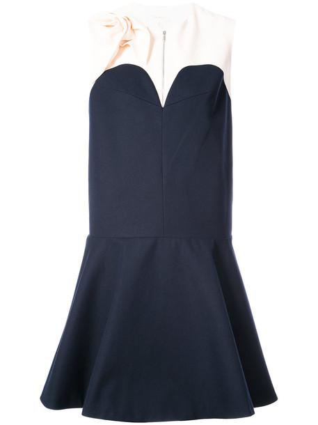 DELPOZO dress women cotton blue