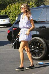 dress,alessandra ambrosio,mini dress,stripes,striped dress,model off-duty
