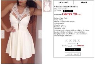 dress white dress sparkly dress cheap prom dresses lace dress knee length dress fashion