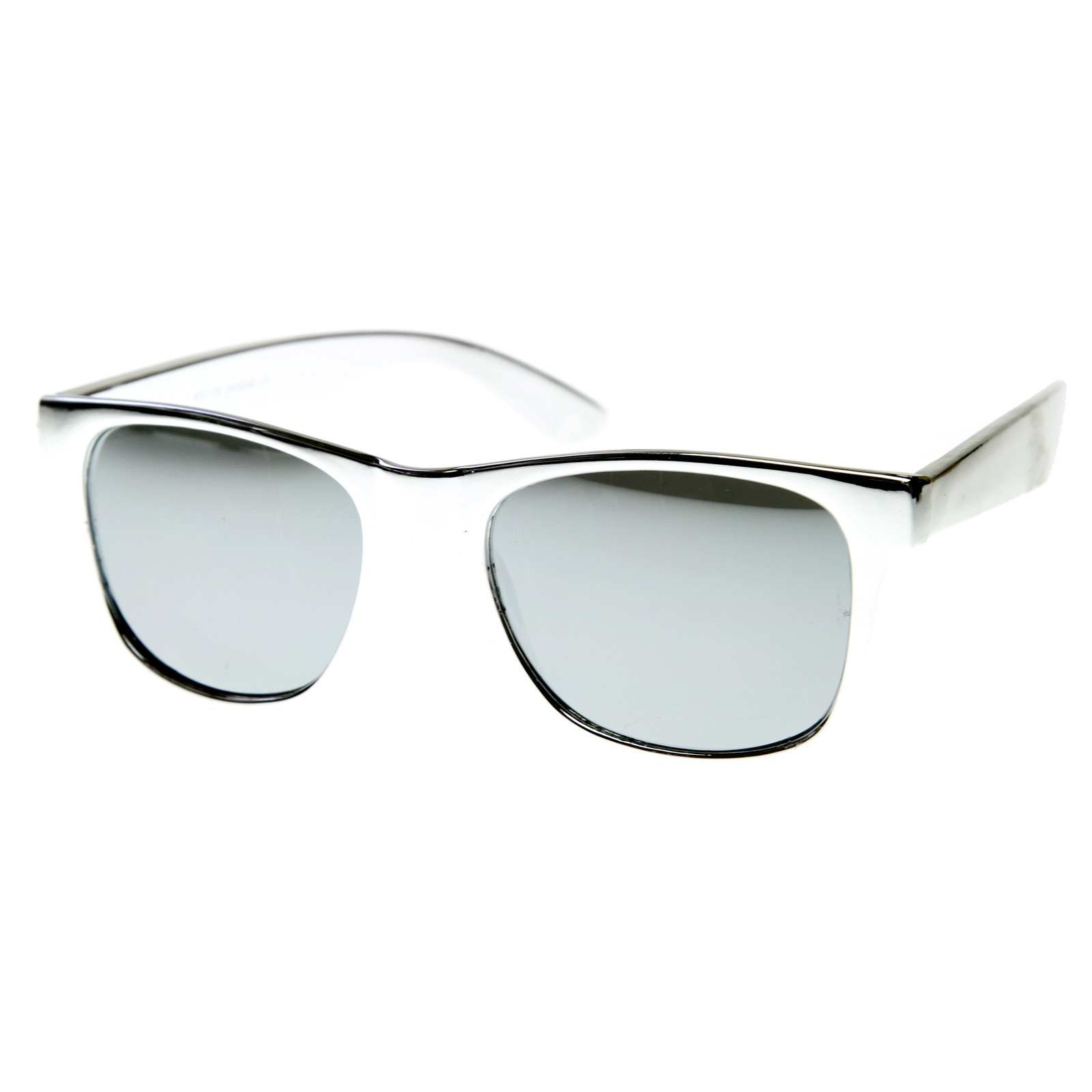 Hipster Platinum Gold Fashion Mirror Lens Wayfarer Sunglasses 8507
