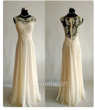 dress prom cream bride wedding dress