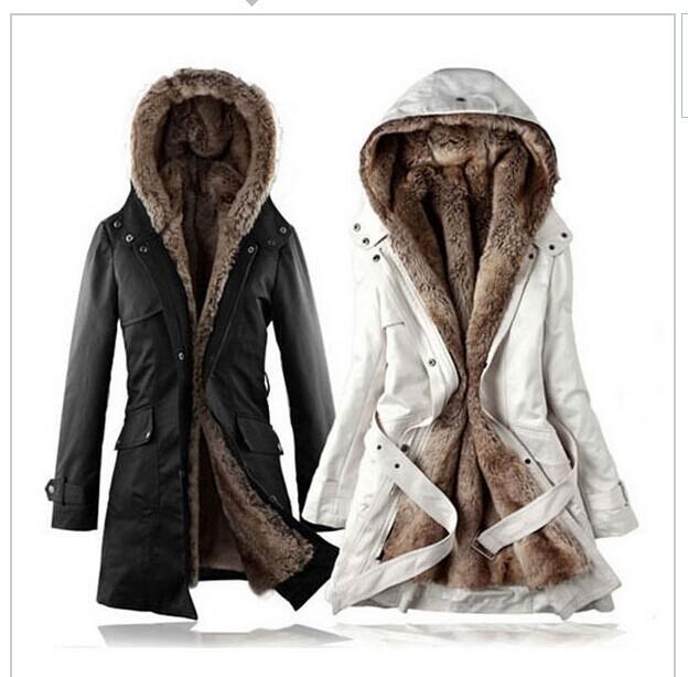 Hot! Faux fur lining women's fur Hoodies Ladies coats winter warm long coat jacket cotton clothes thermal parkas plus size XXXL | Amazing Shoes UK